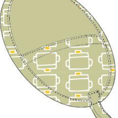 鍋つかみ(楕円)の型紙[kt-001]