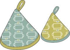 鍋つかみ(帽子)の型紙[kt-004]