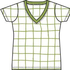 Vネック半袖Tシャツ(レディース)の型紙