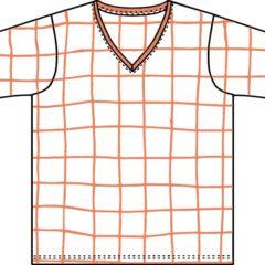 Vネック半袖Tシャツ(メンズ)の型紙
