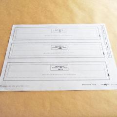 バッグ型ブックカバーの補正用型紙
