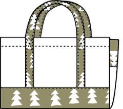バッグ型ブックカバーの型紙