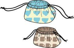 お弁当袋&コップ袋セット(リバーシブル仕様)の型紙